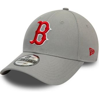 Gorra curva gris snapback 9FORTY REPREVE Pop Logo de Boston Red Sox MLB de New Era