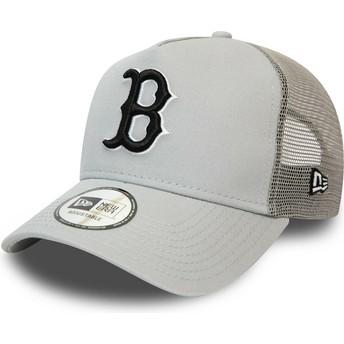 Gorra trucker gris con logo negro League Essential A Frame de Boston Red Sox MLB de New Era
