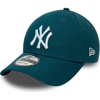 Gorra curva azul ajustable 9FORTY League Essential de New York Yankees MLB de New Era