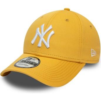 Gorra curva amarilla ajustable 9FORTY League Essential de New York Yankees MLB de New Era