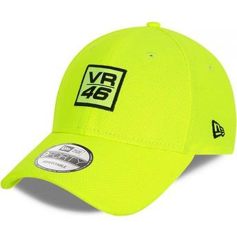 Gorra curva amarilla ajustable 9FORTY Diamond Era de Valentino Rossi VR46 de New Era
