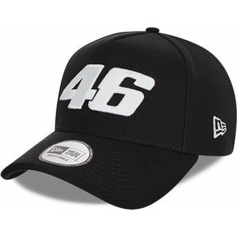 Gorra curva negra snapback Diamond Era A Frame de Valentino Rossi VR46 de New Era
