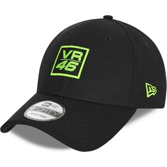 Gorra curva negra ajustable 9FORTY Diamond Era de Valentino Rossi VR46 de New Era