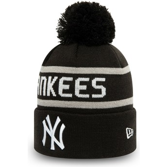 Gorro negro con pompón Cuff Knit Jake de New York Yankees MLB de New Era