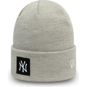 New Era Team Cuff New York Yankees MLB Grey Beanie