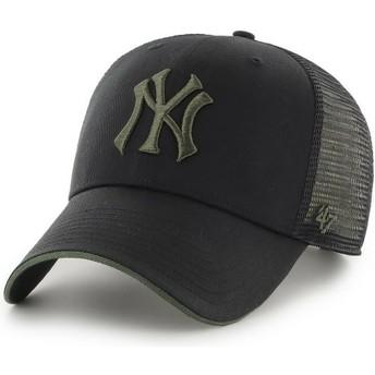 Gorra trucker negra con logo verde MVP Dagwood de New York Yankees MLB de 47 Brand