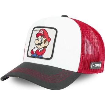 Gorra trucker blanca, roja y negra Mario SMB MAR Super Mario Bros. de Capslab