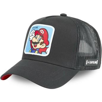 Gorra trucker negra Mario CLA2 Super Mario Bros. de Capslab