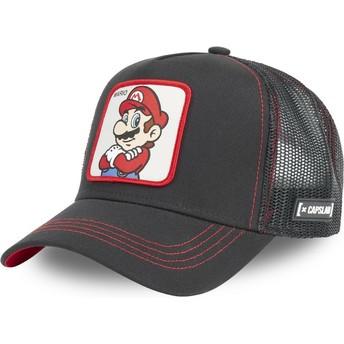 Gorra trucker negra Mario SMB MAR2 Super Mario Bros. de Capslab