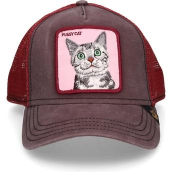 Gorra trucker marrón gato Whiskers de Goorin Bros.