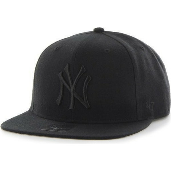 47-brand-flat-brim-black-logo-new-york-yankees-mlb-sure-shot-black-snapback-cap