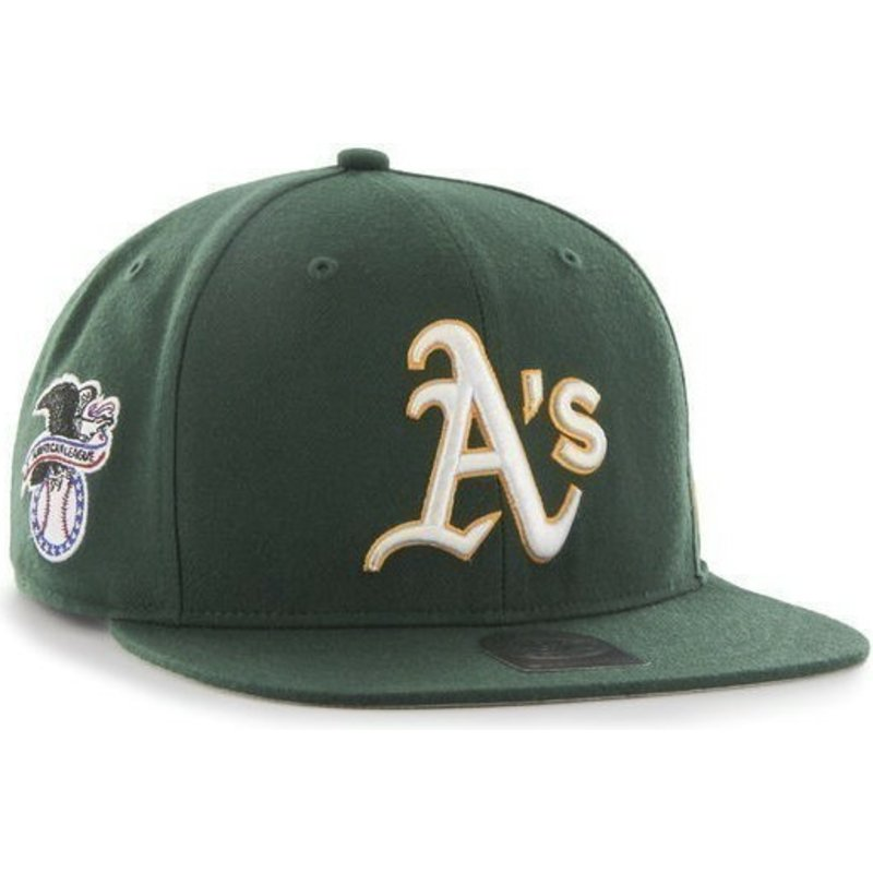 47-brand-flat-brim-oakland-athletics-mlb-sure-shot-green-snapback-cap