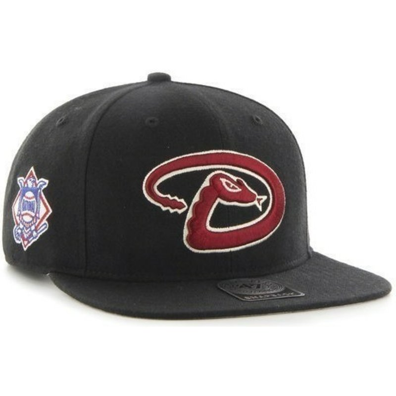 47-brand-flat-brim-arizona-diamondbacks-mlb-sure-shot-black-snapback-cap