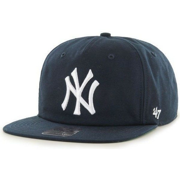 47-brand-flat-brim-new-york-yankees-mlb-navy-blue-snapback-cap
