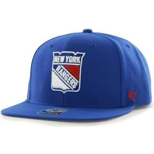 47-brand-flat-brim-new-york-rangers-nhl-sure-shot-blue-snapback-cap