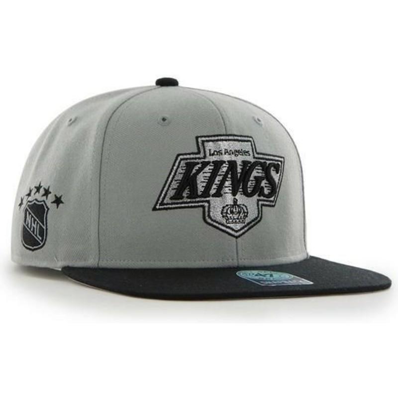 size 40 699d6 79619 47 Brand Flat Brim Los Angeles Kings NHL Sure Shot Grey Snapback Cap