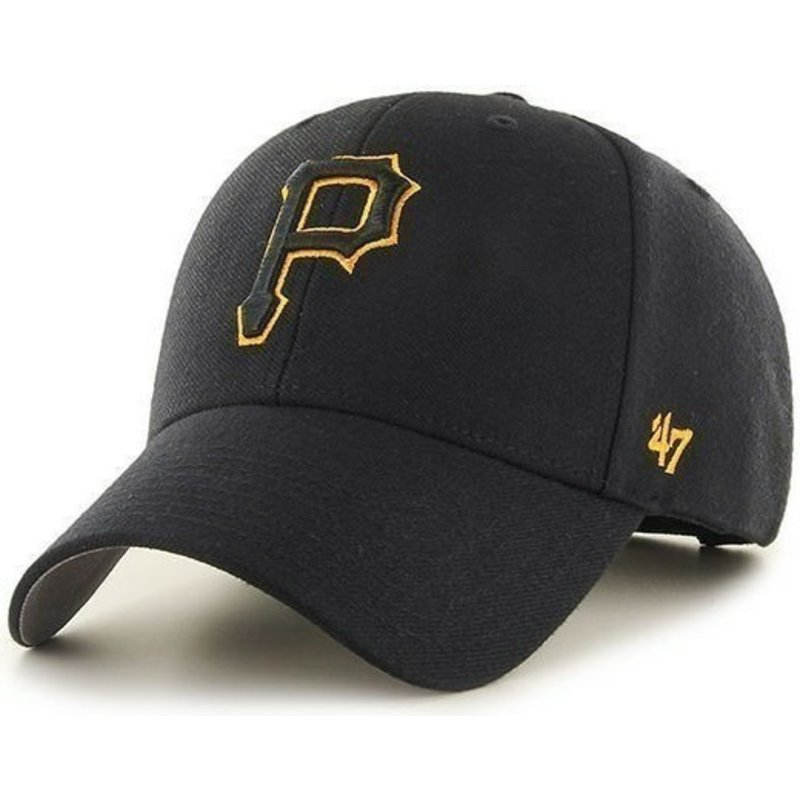 47-brand-curved-brim-pittsburgh-pirates-mlb-black-cap