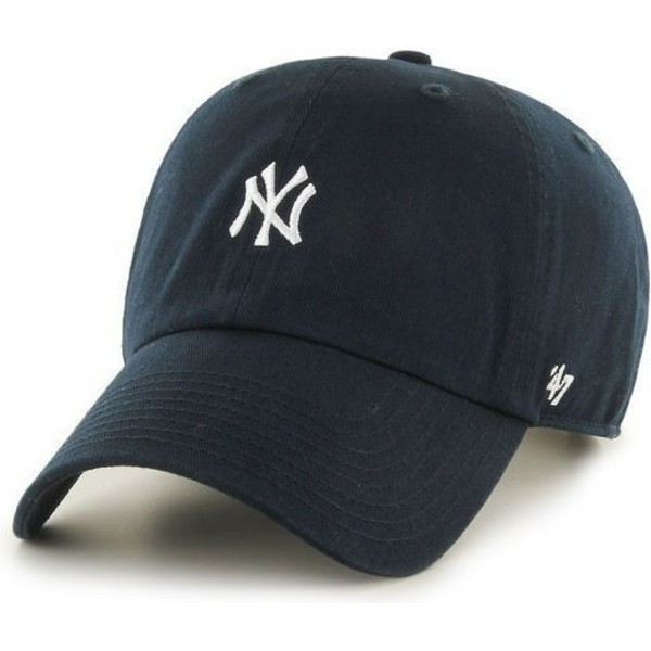 47-brand-curved-brim-small-logonew-york-yankees-mlb-clean-up-navy-blue-cap