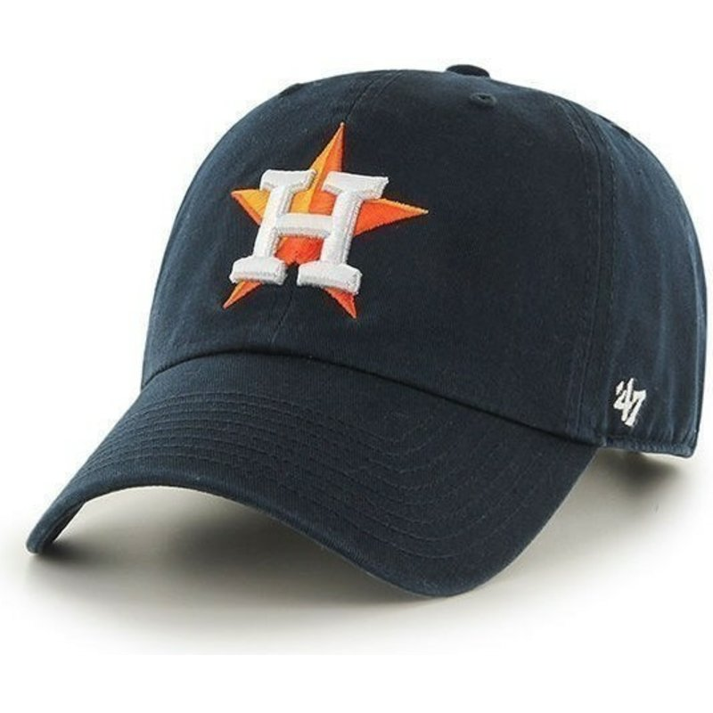 47-brand-curved-brim-houston-astros-mlb-clean-up-black-cap