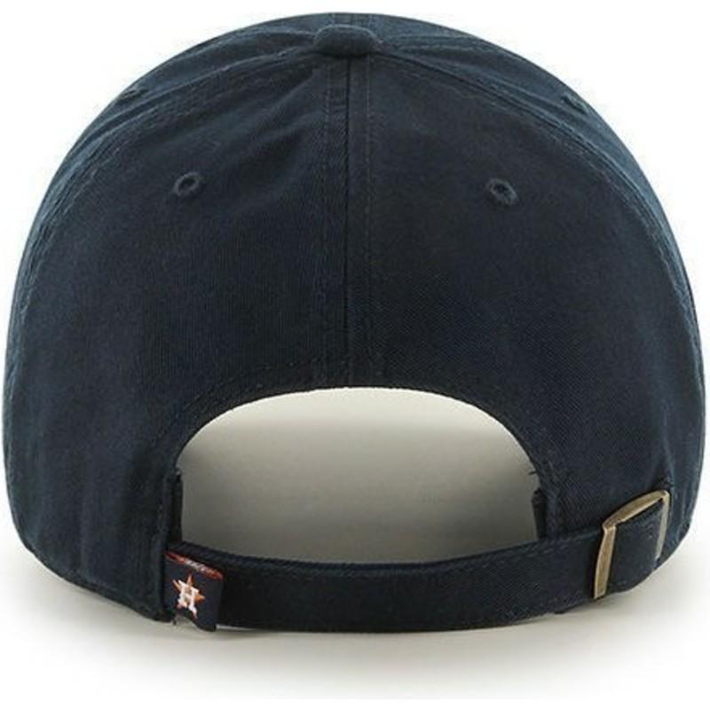 6de17bb1e84d8 47 Brand Curved Brim Houston Astros MLB Clean Up Black Cap  Shop ...