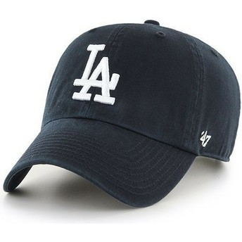 47 Brand Curved Brim Los Angeles Dodgers MLB Clean Up Black Cap