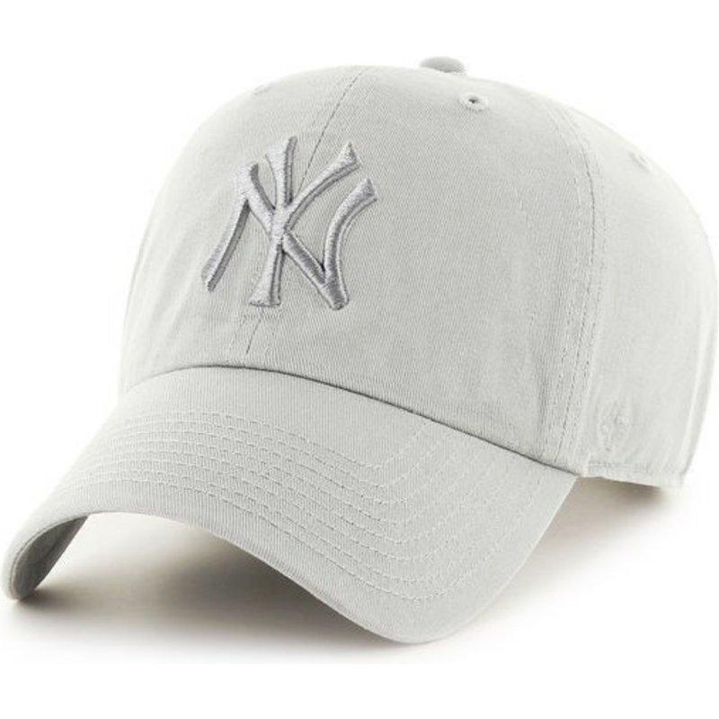 47 brand curved brim new york yankees mlb clean up white cap shop