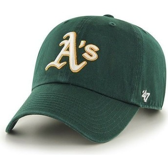 47 Brand Curved Brim Oakland Athletics MLB Clean Up Green Cap