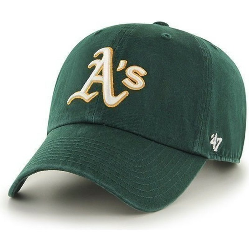 47-brand-curved-brim-oakland-athletics-mlb-clean-up-green-cap