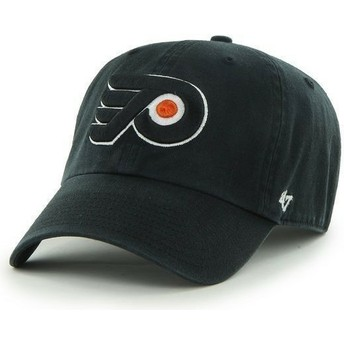 47 Brand Curved Brim Philadelphia Flyers NHL Clean Up Black Cap