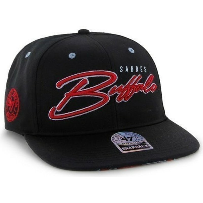 huge selection of af7a9 6472c ... 47-brand-flat-brim-script-logo-buffalo-sabres- ...