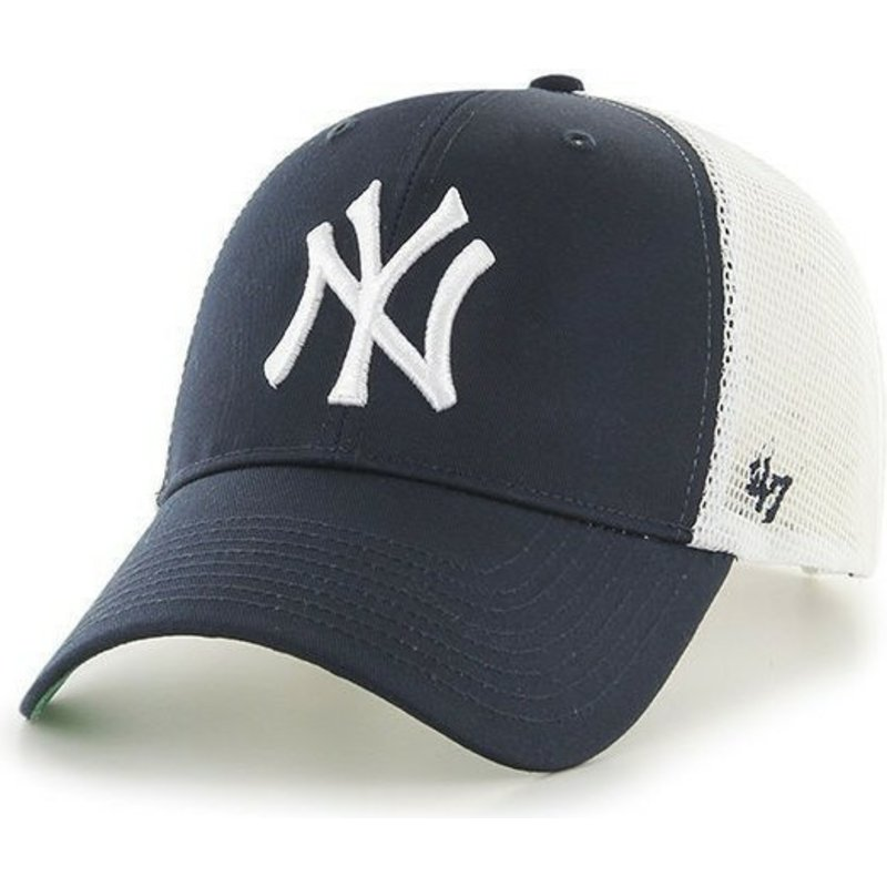 47 Brand MLB New York Yankees Navy Blue Trucker Hat  Shop Online at ... def98ada56d