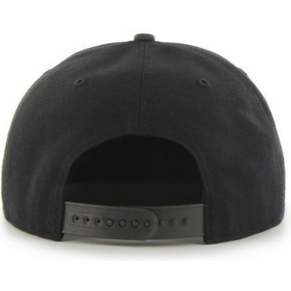 47-brand-flat-brim-black-and-white-logomlb-new-york-yankees-smooth-black-snapback-cap
