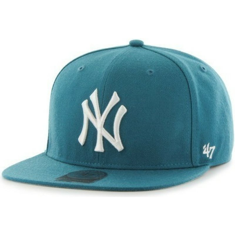 new-era-flat-brim-mlb-new-york-yankees-smooth-green-snapback-cap