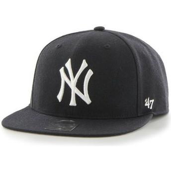 47 Brand Flat Brim MLB New York Yankees Smooth Navy Blue Snapback Cap