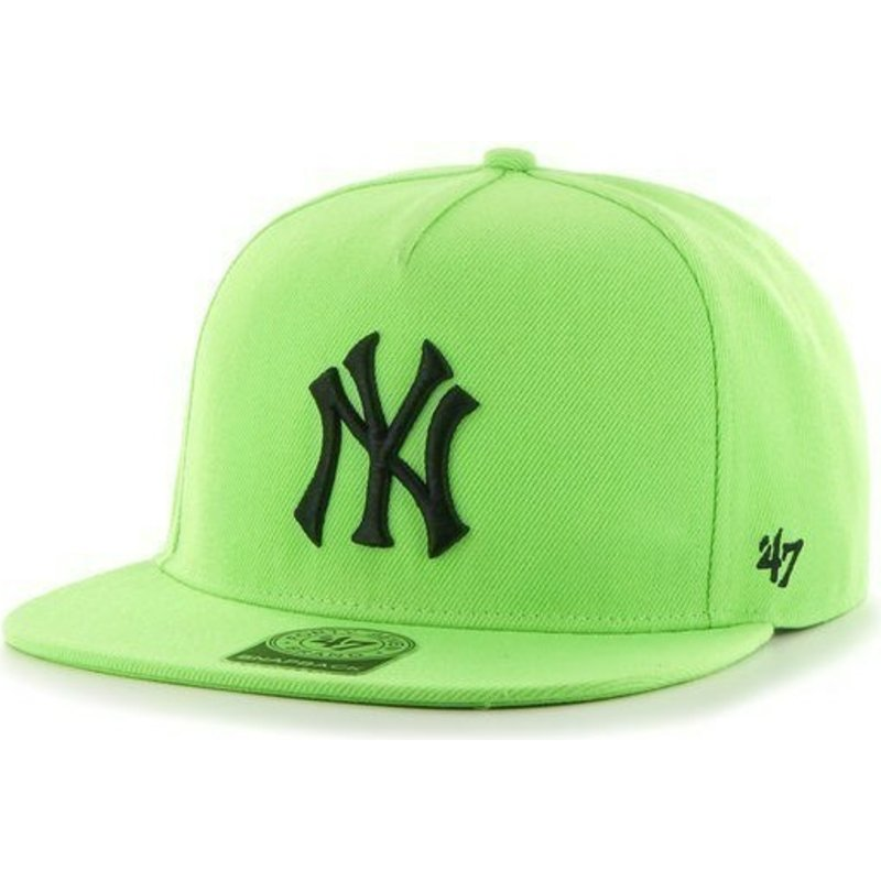 new-era-flat-brim-black-logo-mlb-new-york-yankees-smooth-green-snapback-cap