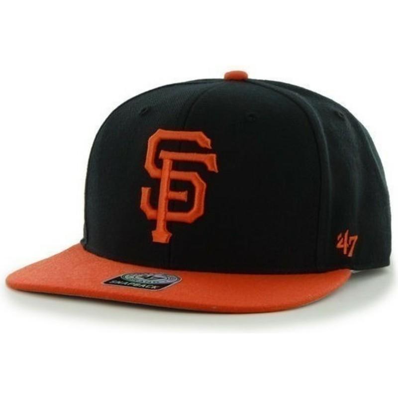 0ffd264ebba 47 Brand Flat Brim Side Logo MLB San Francisco Giants Smooth Black ...