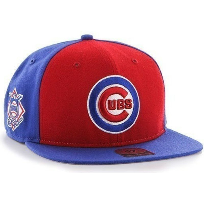 7ff0c14cedc 47 Brand Flat Brim Side Logo MLB Chicago Cubs Smooth Blue Snapback ...