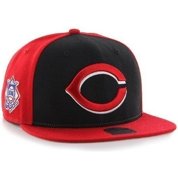 47-brand-flat-brim-side-logo-mlb-cincinnati-reds-smooth-red-snapback-cap