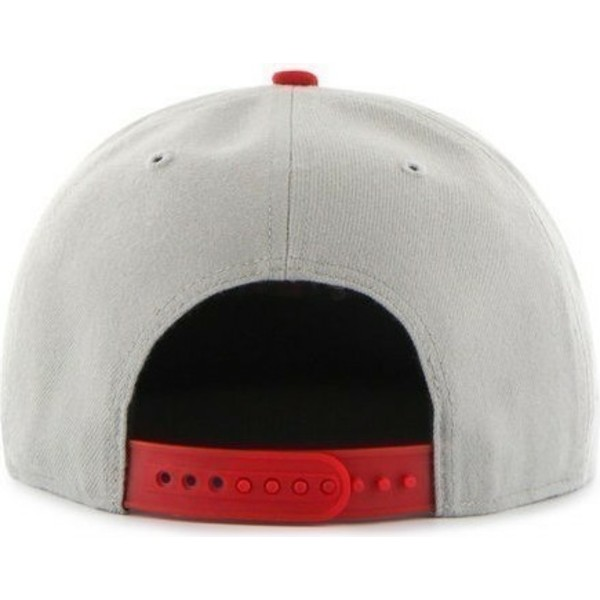 47-brand-flat-brim-side-logo-mlb-boston-red-sox-grey-snapback-cap