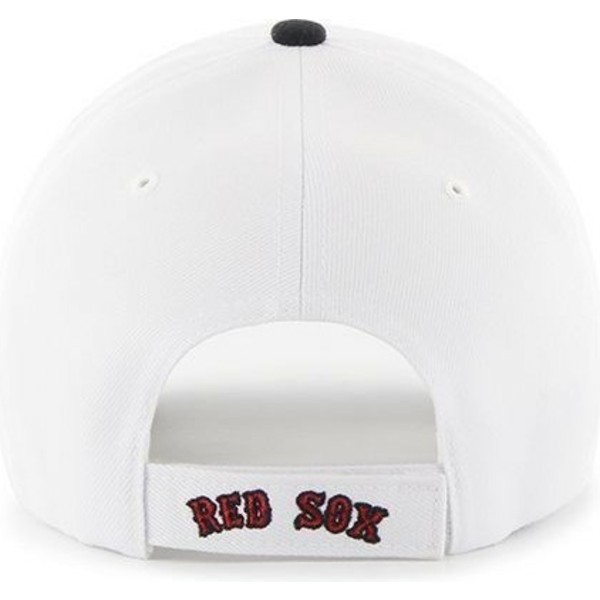47-brand-curved-brim-mlb-boston-red-sox-white-cap-with-black-visor