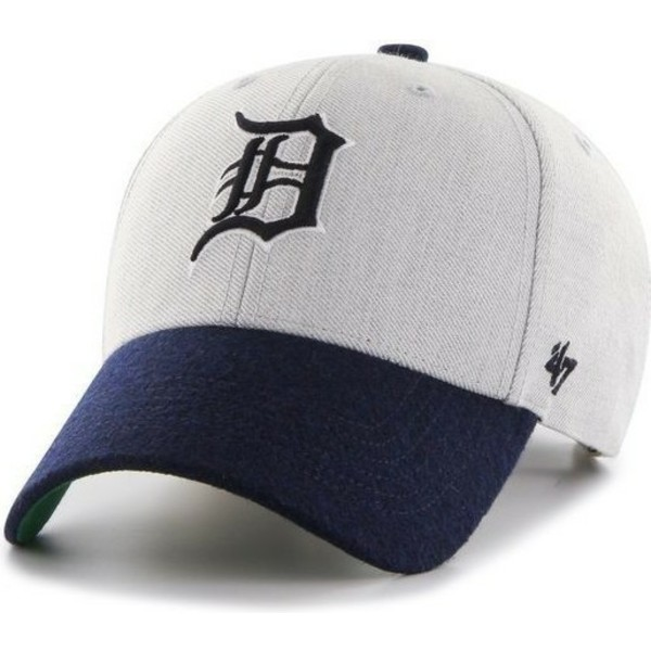 47-brand-curved-brim-mlb-detroit-tigers-grey-cap-with-navy-blue-visor