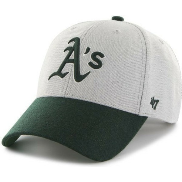 47-brand-curved-brim-mlb-oakland-athletics-grey-cap-with-green-visor