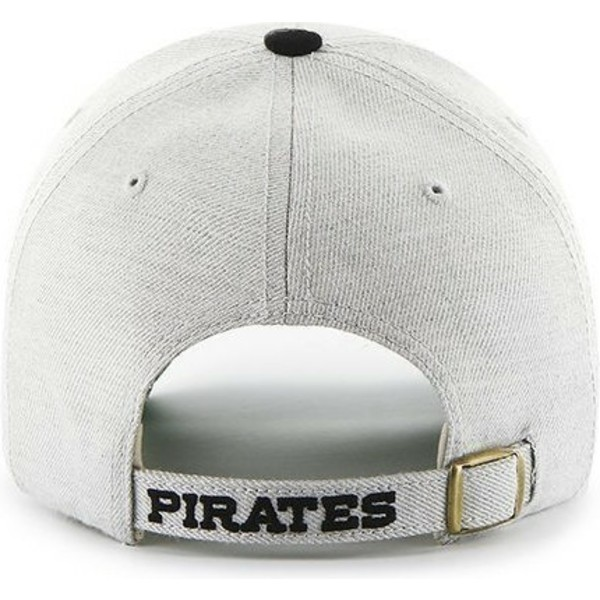 47-brand-curved-brim-mlb-pittsburgh-pirates-grey-cap-with-black-visor
