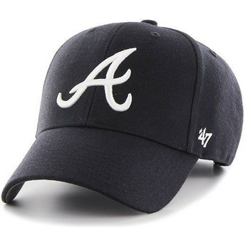 47 Brand Curved Brim MLB Atlanta Braves Smooth Navy Blue Cap