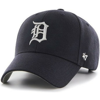 47 Brand Curved Brim MLB Detroit Tigers Smooth Navy Blue Cap