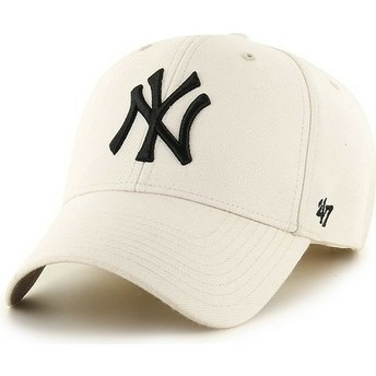 47 Brand Curved Brim MLB New York Yankees Smooth Cream Cap