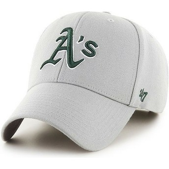 47 Brand Curved Brim MLB Oakland Athletics Smooth Grey Cap