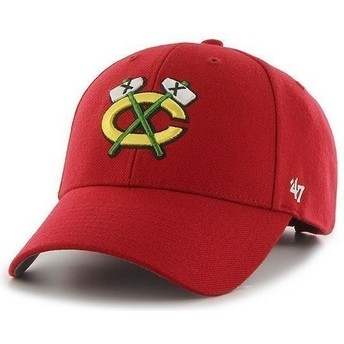 47 Brand Curved Brim NHL Chicago Blackhawks Red Cap