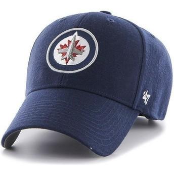 Gorra visera curva azul marino de NHL Winnipeg Jets de 47 Brand