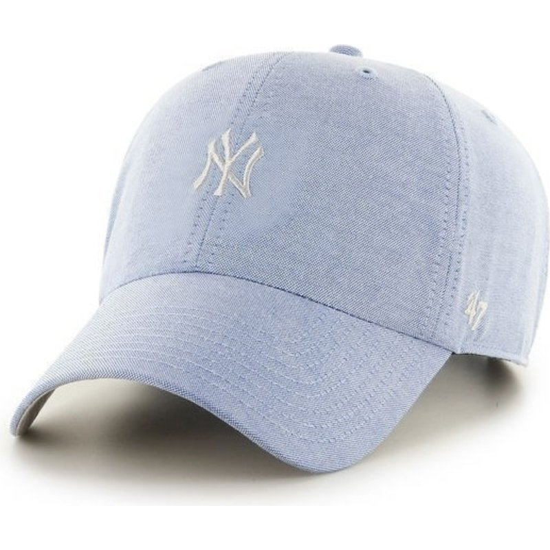 47 Brand Curved Brim Small Logo MLB New York Yankees Blue Cap  Shop ... 4bcb81d7dab